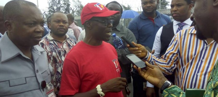 Mr. Ebiogbe, Chairman, Akwa Ibom State Branch of Pengassan/ Comr. Eze Jude, Deputy National Chairman of PENGASSAN